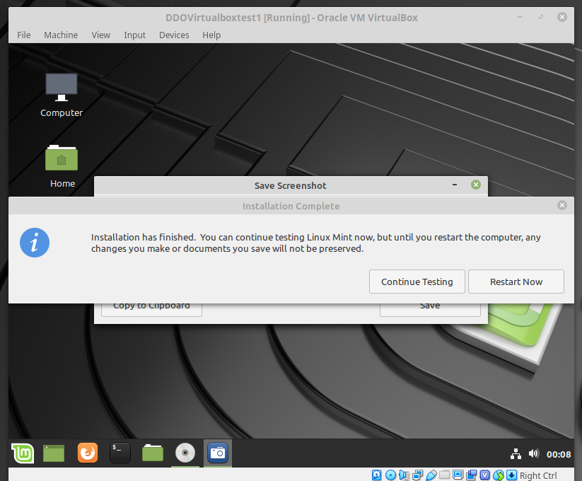 Linux Mint Continue Testing