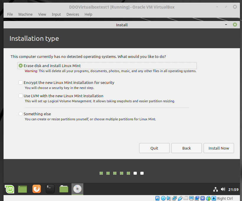 Linux Mint Erase and Install